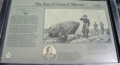 The Eye of General Warren Marker image. Click for full size.