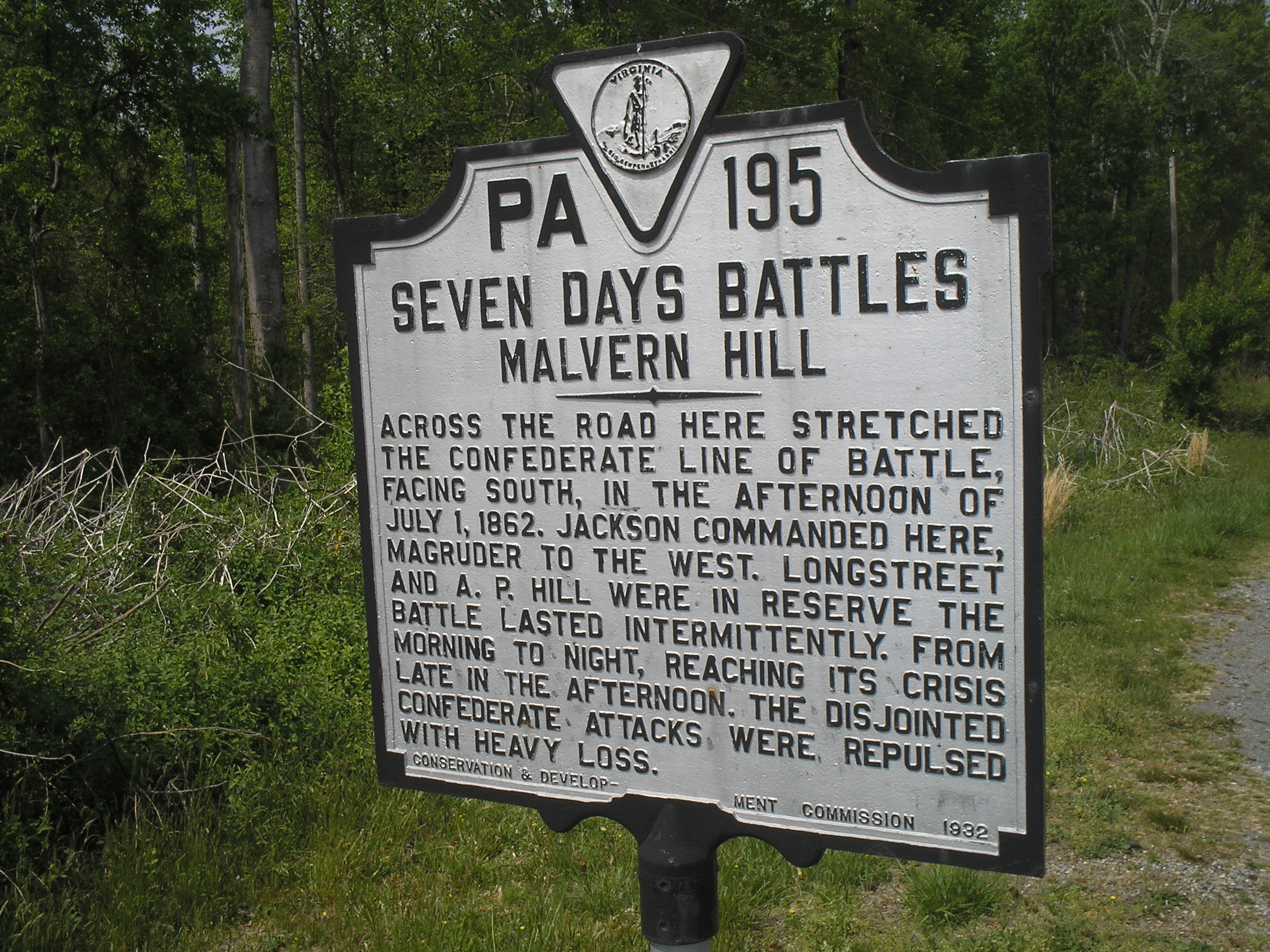 Seven Days Battles Marker