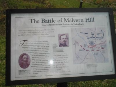 The Battle of Malvern Hill Marker image. Click for full size.