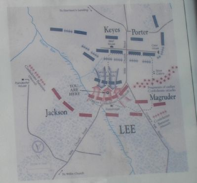 Malvern Hill Battle Map from Marker image. Click for full size.