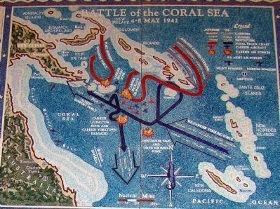 Battle of the Coral Sea<br>4&#8211;8 May 1942 image. Click for full size.