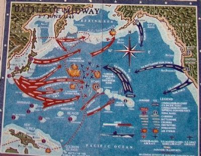 Battle of Midway<br>3&#8211;7 June 1942 image. Click for full size.