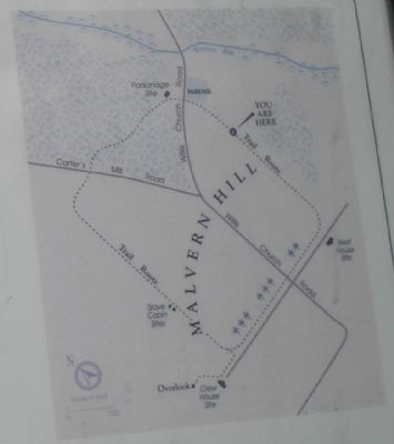 The Battle of Malvern Hill Trail Map image. Click for full size.