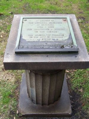 In Memory of The Moravian Colonists In Savannah Marker image. Click for full size.