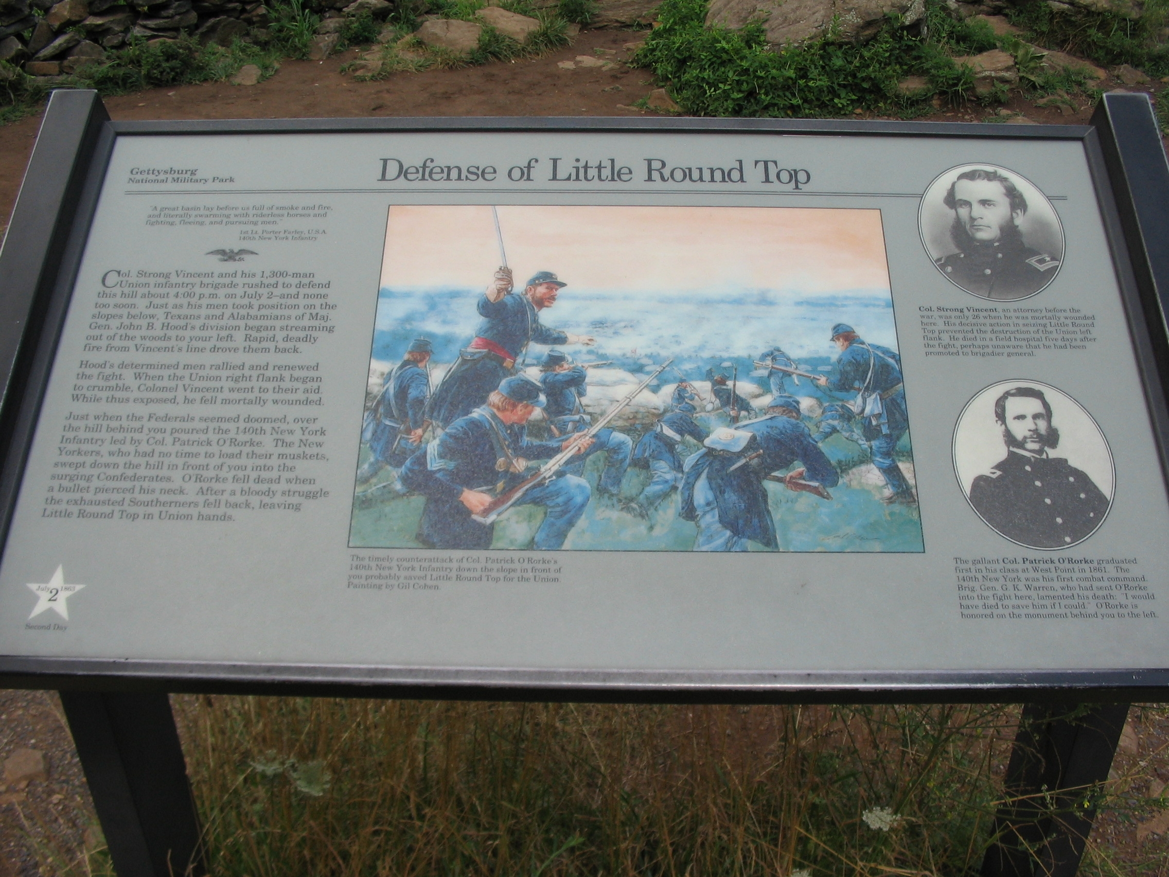 Defense of Little Round Top Marker