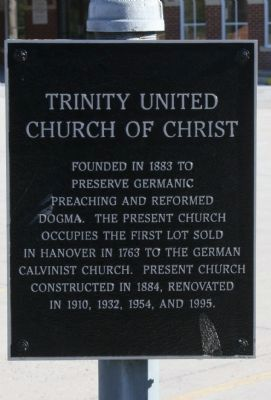 Trinity United Church of Christ Marker image. Click for full size.