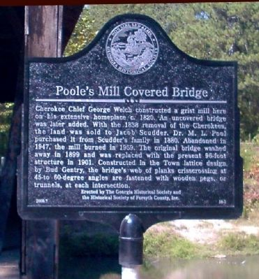 Poole's Mill Covered Bridge Marker image. Click for full size.