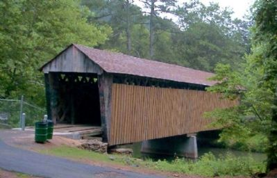 Poole's Mill Covered Bridge before the Marker was installed. image. Click for full size.