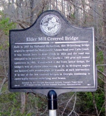 Elder Mill Covered Bridge Marker image. Click for full size.