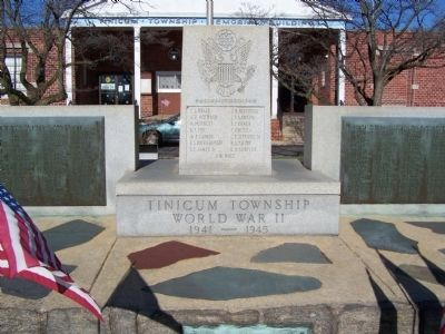 Tinicum Township WWII Memorial image. Click for full size.