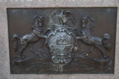 Pennsylvania Seal Plaque on front center of monument. image. Click for full size.