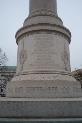First Division War Memorial - east face image. Click for full size.