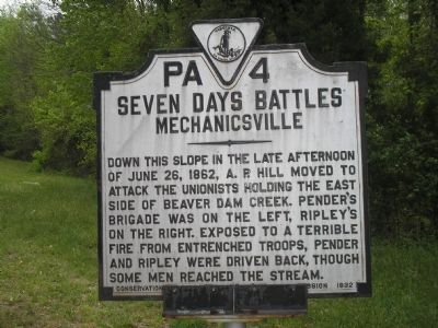 Seven Days Battles / Mechanicsville Marker image. Click for full size.