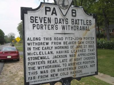 Porter's Withdrawal Marker image. Click for full size.