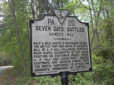 Gaines's Mill Marker image. Click for full size.