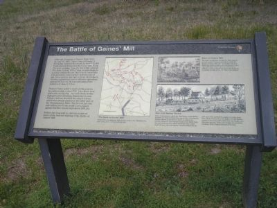 The Battle of Gaines' Mill Marker image. Click for full size.
