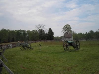 Marker on Gaines' Mill Battlefield image. Click for full size.