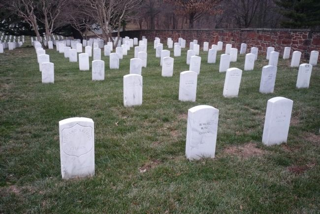 """Citizen"" headstones for some of the many civilian freedmen buried in Section 27 image. Click for full size."