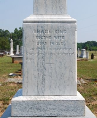 Grace King Tombstone -<br>Holland Monument, South Side image. Click for full size.