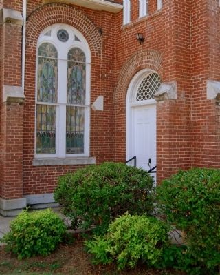 Good Hope Presbyterian Church -<br>East Entrance Near Base of Tower image. Click for full size.