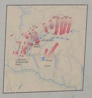Gaines' Mill Battle Map from Marker image. Click for full size.