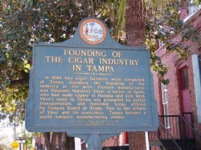 Founding of the Cigar Industry in Tampa Marker image. Click for full size.