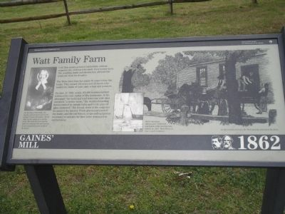Watt Family Farm Marker image. Click for full size.