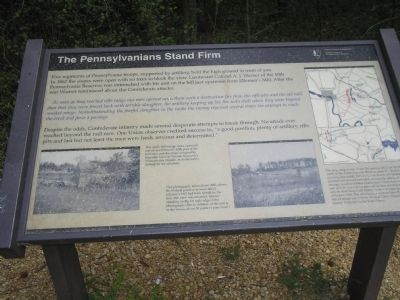 The Pennsylvanians Stand Firm Marker image. Click for full size.