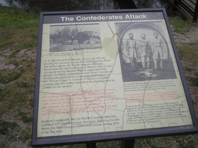 The Confederates Attack Marker image. Click for full size.