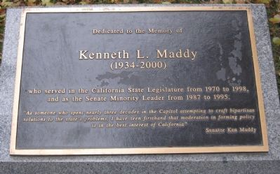 Kenneth L. Maddy Marker image. Click for full size.