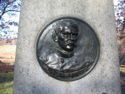 Relief Portrait of Emory Upton on Back of Monument image. Click for full size.