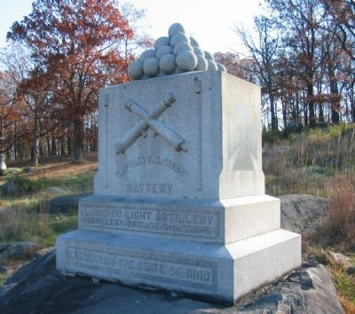 Battery L, 1st Ohio Light Artillery Monument image. Click for full size.