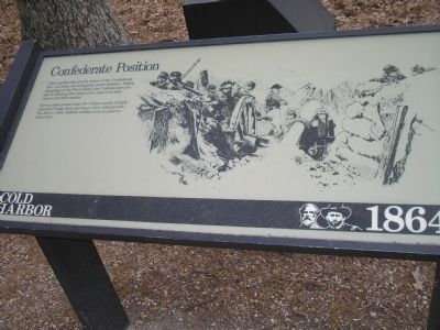 Marker on Cold Harbor Tour Road image. Click for full size.