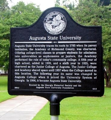Augusta State University Marker image. Click for full size.