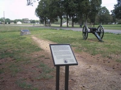 Marker on Cold Harbor Battlefield image. Click for full size.