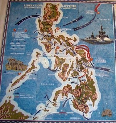 Liberation of the Philippines<br>20 October 1944 &#8211; 15 August 1945 image. Click for full size.