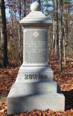 20th Regiment Indiana Volunteers Monument image. Click for full size.