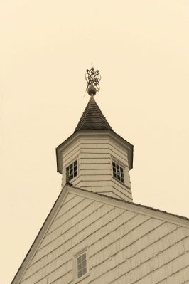 Old Tennent Presbyterian Church Steeple image. Click for full size.
