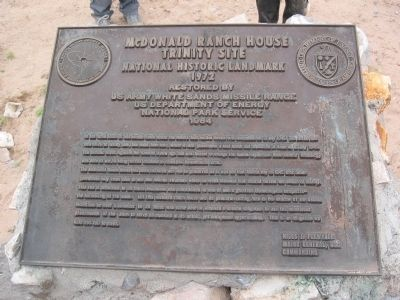 McDonald Ranch House Trinity Site Marker image. Click for full size.