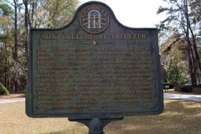 Silk Culture at Ebenezer Marker image. Click for full size.