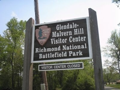 Glendale – Malvern Hill Visitor Center image. Click for full size.