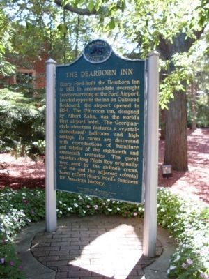 The Dearborn Inn Marker image. Click for full size.