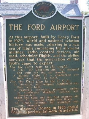 Ford Airport Marker image. Click for full size.