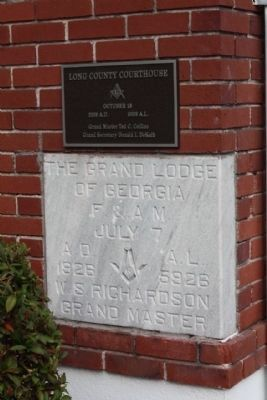 Long County Courthouse Cornerstone Reads image. Click for full size.