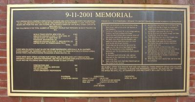 9-11-2001 Memorial Marker image. Click for full size.