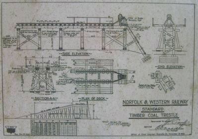 Norfolk and Western Railway Standard Timber Coal Trestle image. Click for full size.