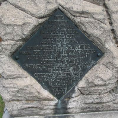 Left Side Plaque on Monument image. Click for full size.