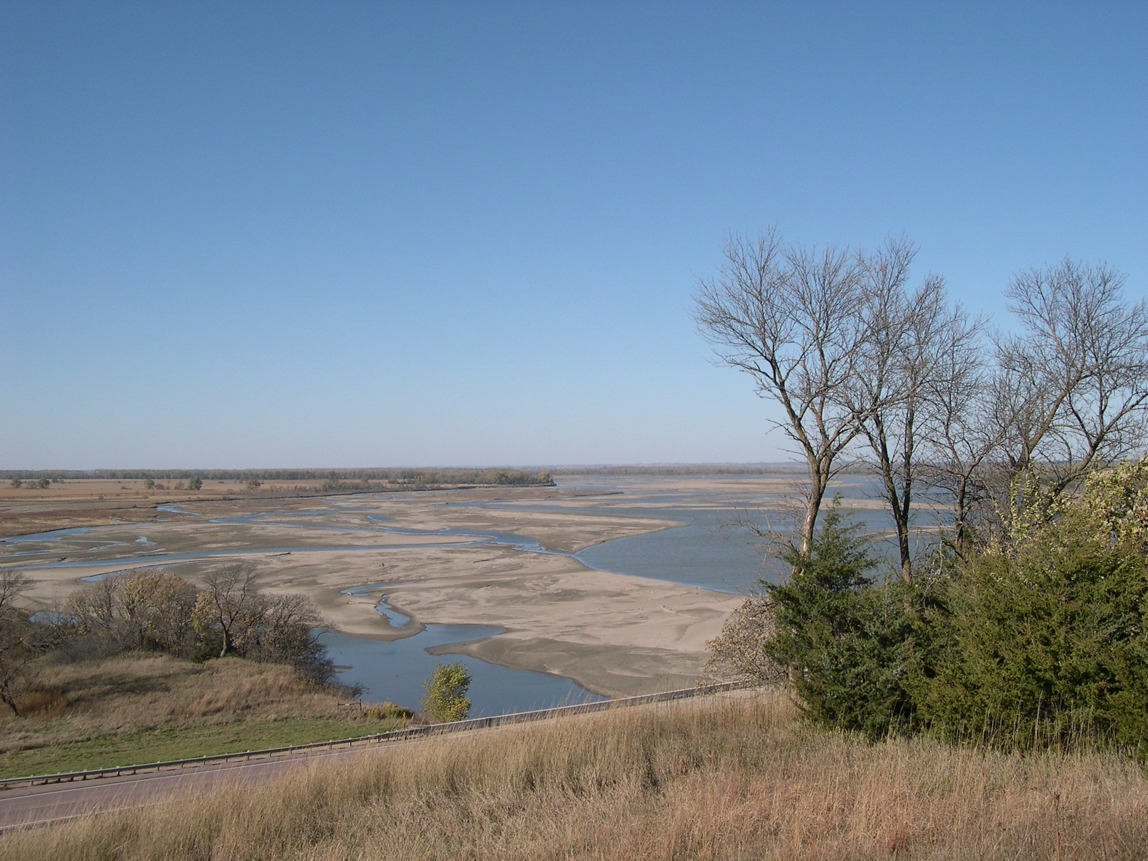 Missouri River as seen from near marker.