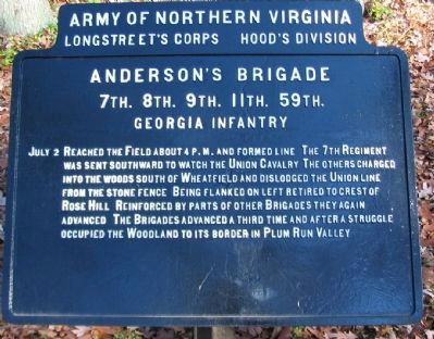 Anderson's Brigade Tablet image. Click for full size.