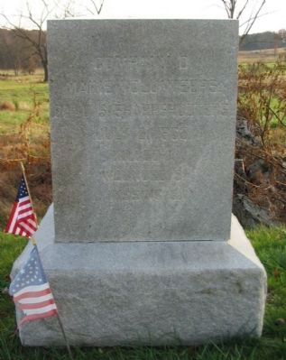 Company D, 2nd U.S. Sharpshooters Monument image. Click for full size.